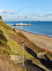 Bournemouth beach coast and pier Dorset England UK