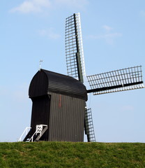 Windmill in the fortress Bourtange. Netherlands