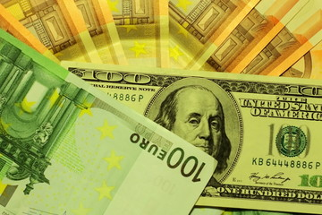 US Dollars and Euro notes