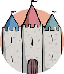 three turrets