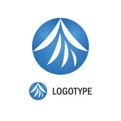 Abstract blue circle logo