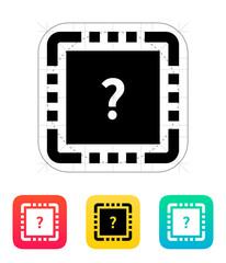 CPU Test icon. Vector illustration.