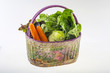 Different vegetables in the basket