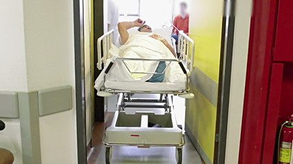 The patient is placed into the chamber