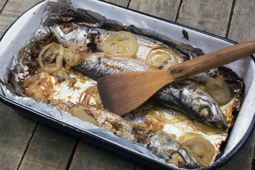 mackerel fish in casserole