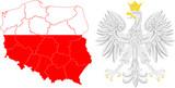województwa i godło Polski - 77677769