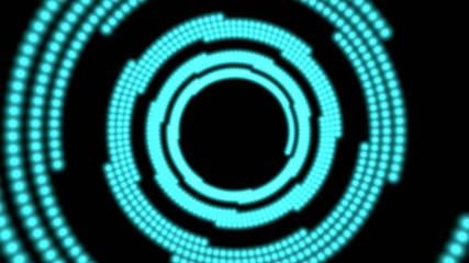 Lichttunnel Blau mit Alphakanal