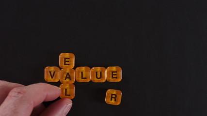 Letter Blocks Spelling Real Value