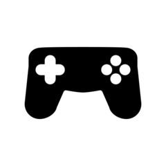 The gamepad icon. Game symbol. Flat