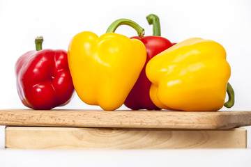 Large paprika of red and yellow color