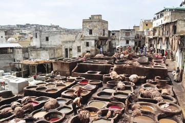 Marocco. Concerie di Fes
