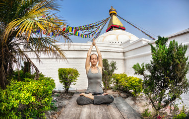 Yoga meditation in Nepal