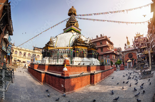 Fotobehang Nepal Kathesimbhu stupa in Kathmandu