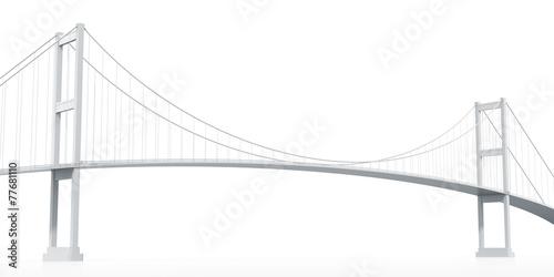 Foto op Aluminium Brug Suspension Bridge