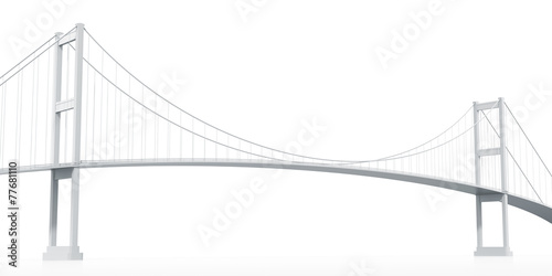 Foto op Plexiglas Brug Suspension Bridge