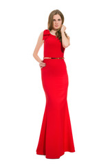 pretty woman in red