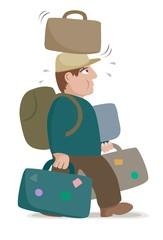 overloaded luggage