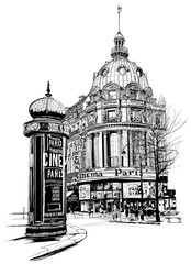 "View of Paris at the ""grand boulevard"""