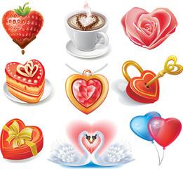 Heart-shaped set