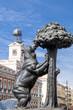 Leinwanddruck Bild - Symbol of Madrid - statue of Bear and strawberry tree, Spain