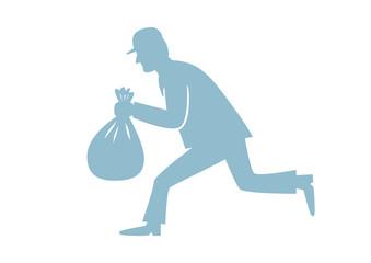 Thief icon on white background