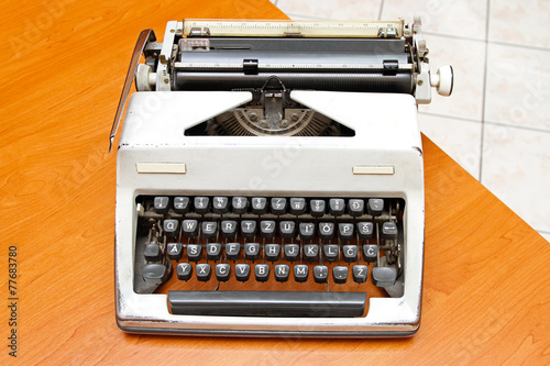 canvas print picture Typewriter