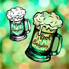 Irish holiday green beer spirit