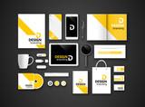 Black branding Mockup. Vector