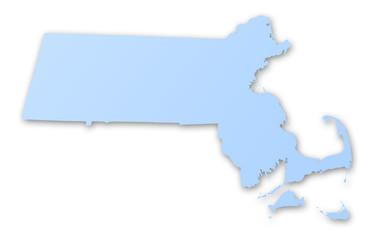 carte du Massachusetts