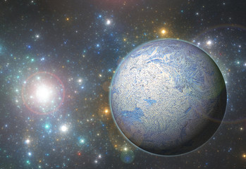 Ice planet in deep space