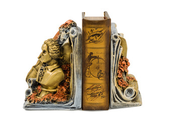 Bookend with a bust of the writer