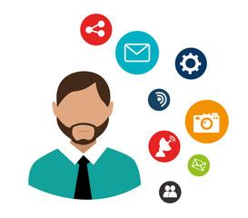Social network design, vector illustration.