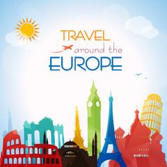 Travel around the Europe