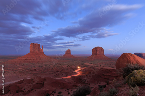 Monument Valley at night, Arizona - 77687729
