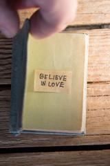 Believe in love concept.
