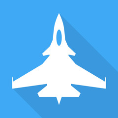 Jet fighter aircraft sign