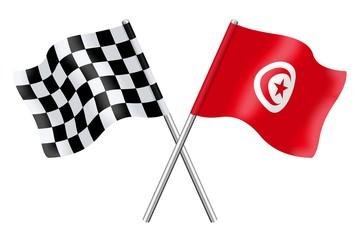 Flags : Checkerboard and Tunisia