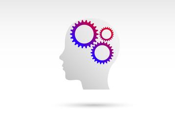 testa, colori, idee, cervello, idea, fantasia