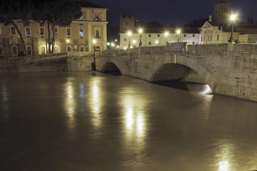 La piena del tevere, Roma in ansia