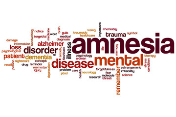 Amnesia word cloud