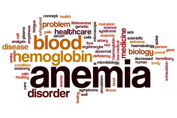 Anemia word cloud