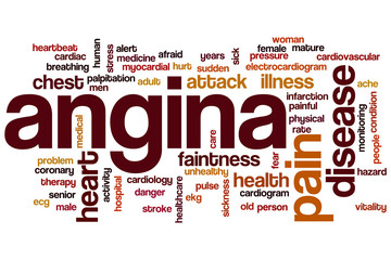Angina word cloud