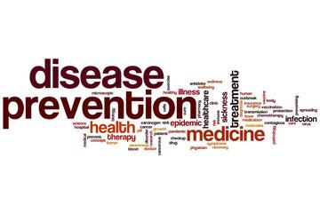 Disease prevention word cloud
