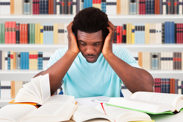 Tired Student In Library