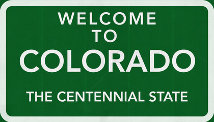 Welcome to Colorado USA Road Sign