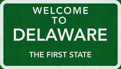 Welcome to Delaware USA Road Sign