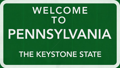 Welcome to Pennsylvania USA Road Sign