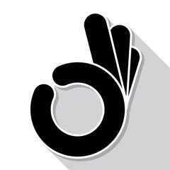 Abstract OK hand symbol, vector