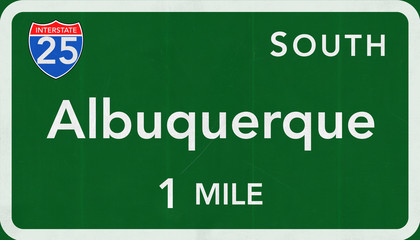 Albuquerque USA Interstate Highway Sign