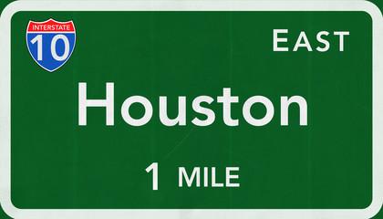 Houston USA Interstate Highway Sign